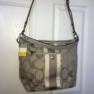 Silver and grey authentic Coach bag